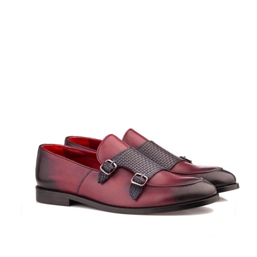 Loafer mit zwei Schnallen für Herren Marco Bordeaux