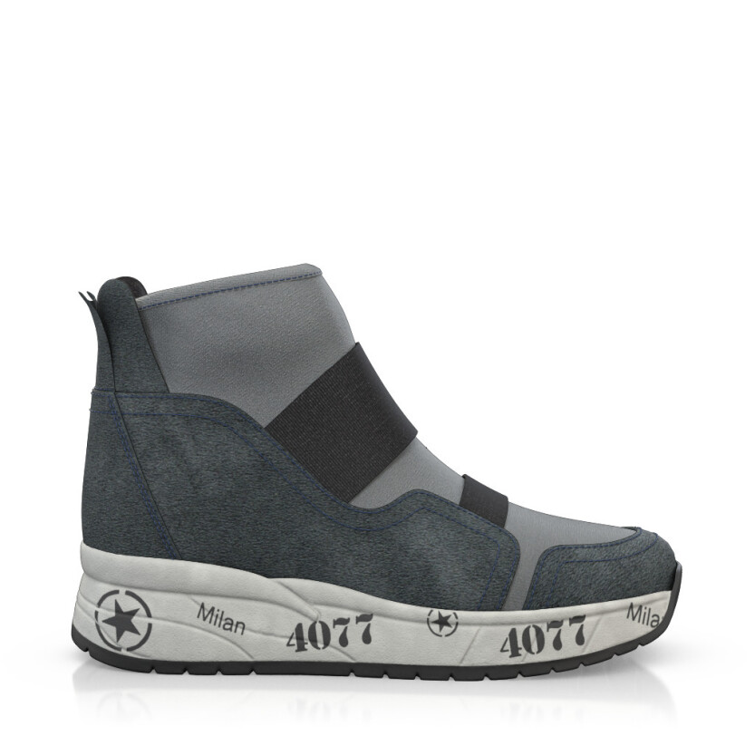 Dehnbare Sneakers mit Chunky Sole 6272