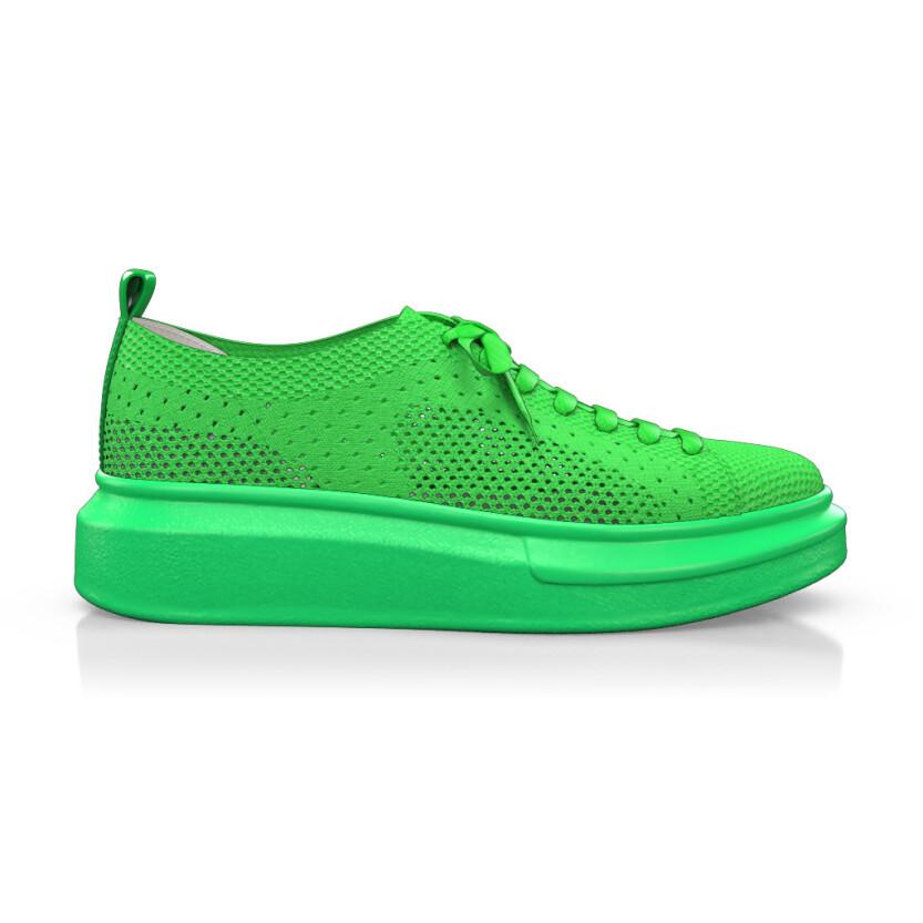 Plateau Sneakers mit Netzgewebe 9487