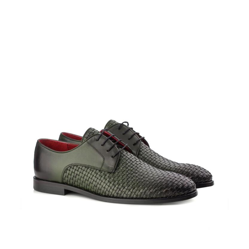 Gewebte Derby-Schuhe aus Leder für Herren Angelo Grün
