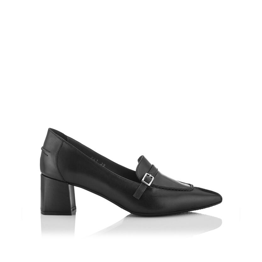 Block Heel Pointed Toe Schuhe Grazia - Schwarz