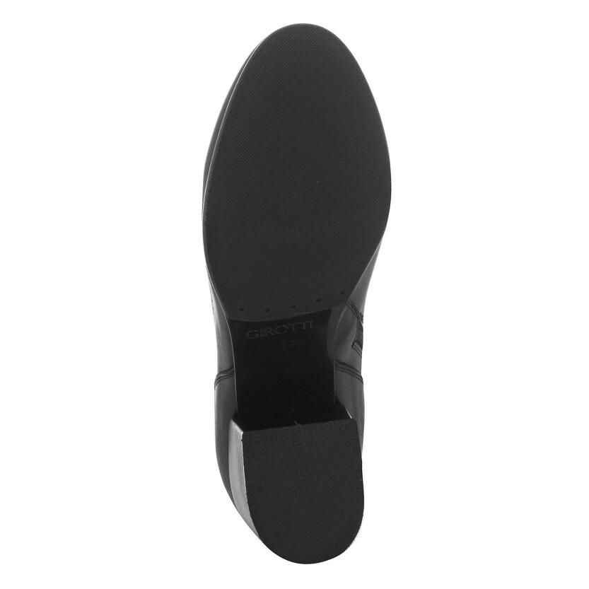 Block Heel Boots Caterina Leather Black