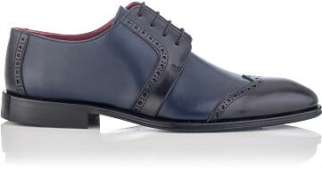 Derby-Schuhe für Herren Paolo Blau & Schwarz