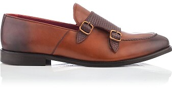 Loafer mit zwei Schnallen für Herren Marco Cognac