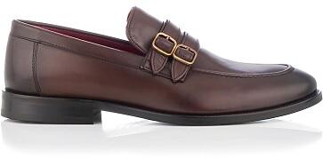 Loafer mit zwei Schnallen für Herren Alessandro Braun