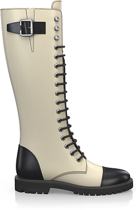 Knee High Schnürstiefel 3276-77