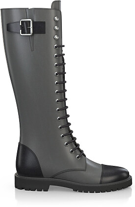 Knee High Schnürstiefel 3271