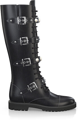 Knee High Schnürstiefel 3354