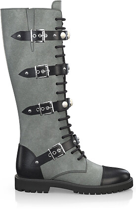 Knee High Schnürstiefel 3358