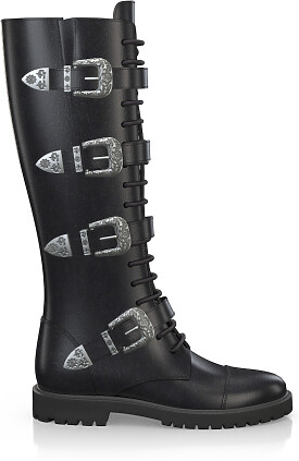 Knee High Schnürstiefel 3552