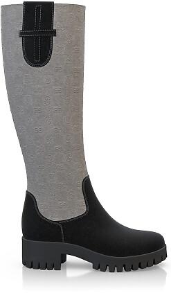 Geprägte Boots 3833