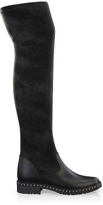 Stretch Overknee Stiefel 3842