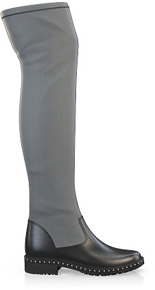 Stretch Overknee Stiefel 3843