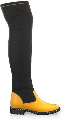 Stretch Overknee Stiefel 3849