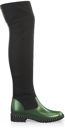 Stretch Overknee Stiefel 3853