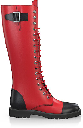 Knee High Schnürstiefel 3961