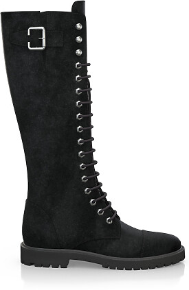 Knee High Schnürstiefel 3987