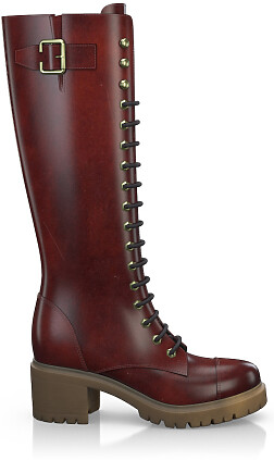 Knee High Schnürstiefel 4044