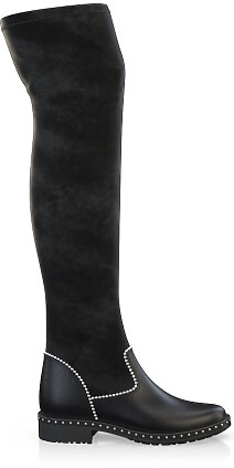 Stretch Overknee Stiefel 4049