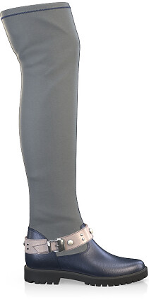Stretch Overknee Stiefel 4077