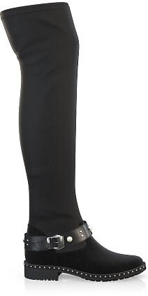 Stretch Overknee Stiefel 4078