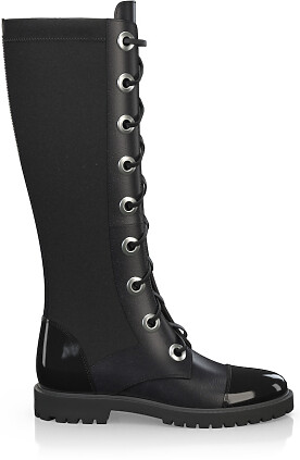 Knee High Schnürstiefel 4190