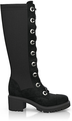 Knee High Schnürstiefel 4192
