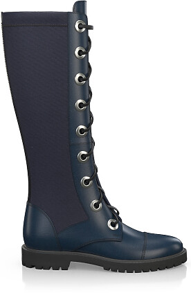 Knee High Schnürstiefel 4196