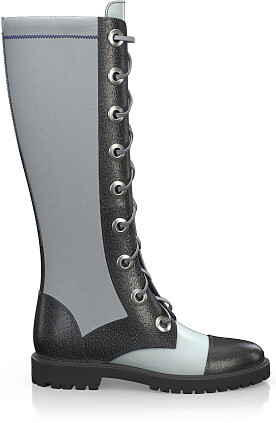 Knee High Schnürstiefel 4258