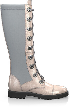 Knee High Schnürstiefel 4259