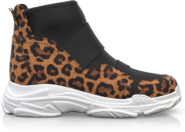 Dehnbare Sneakers mit Chunky Sole 6268