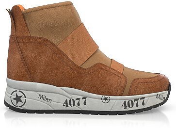 Dehnbare Sneakers mit Chunky Sole 6273