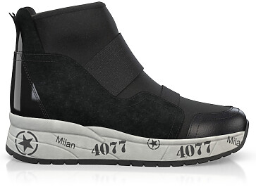 Dehnbare Sneakers mit Chunky Sole 6274