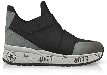 Dehnbare Sneakers mit Chunky Sole 10354