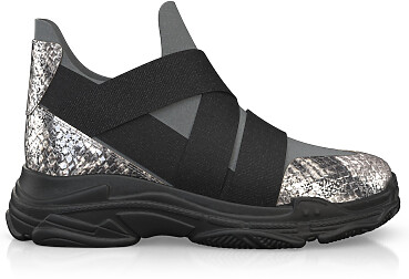 Dehnbare Sneakers mit Chunky Sole 10357
