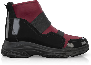 Dehnbare Sneakers mit Chunky Sole 10700