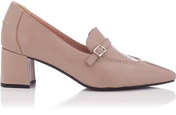Block Heel Pointed Toe Schuhe Grazia - Khaki