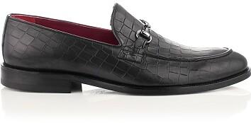 Horsebit-Loafer für Herren Giovanni Schwarz