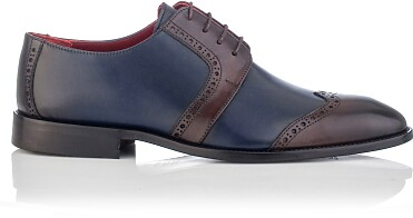 Derby-Schuhe für Herren Paolo Blau & Braun