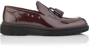 Slip-on-Schuhe für Herren Luigi Lackleder Bordeaux