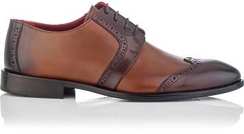 Derby-Schuhe für Herren Paolo Cognac & Braun