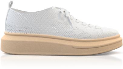Plateau Sneakers mit Netzgewebe