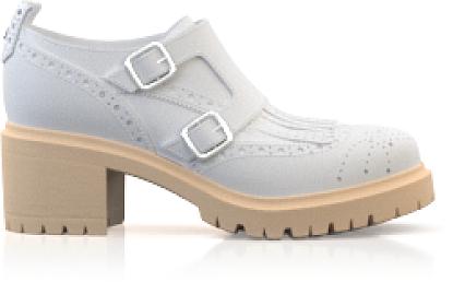 Blockabsatz Derby Schuhe
