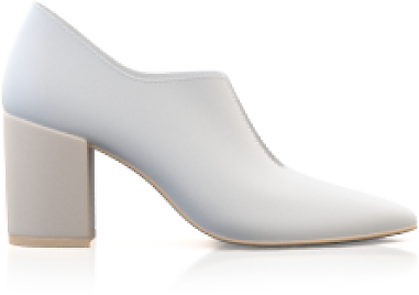 Block Heel Pointed Toe Schuhe