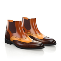 MEN`S BROGUE ANKLE BOOTS