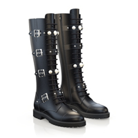 KNEE HIGH LACE-UP BOOTS 3354