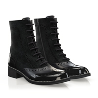 BROGUE LACE-UP ANKLE BOOTS 5565
