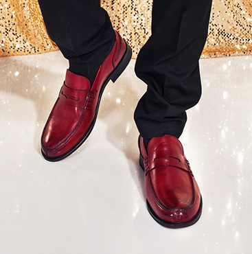 Red Penny Loafers