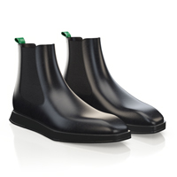 MEN'S SQUARE TOE FLAT ANKLE BOOTS 13853