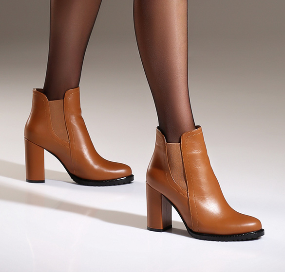 Carame ankle boots